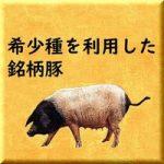 希少種を利用した銘柄豚