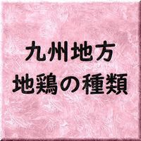 九州地方 地鶏の種類と血統